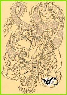 Drachen Tattoo Fabelwesen Drachen Tribal Tattoos Chinesische Drachen Tattoos Dämonen Tattoo