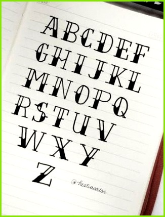 Alphabet hand lettering