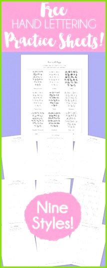 Free Hand Lettering Practice Sheets 9 Styles