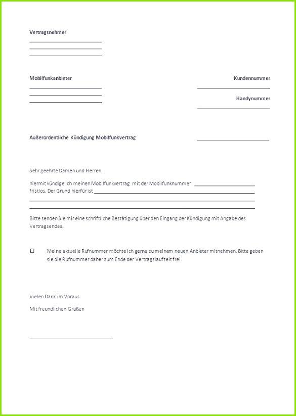 Kündigung Handyvertrag O2 Muster Unglaubliche Mobilfunkvertrag Kündigen Vorlage Unglaubliche Kündigung Handyvertrag O2 Muster