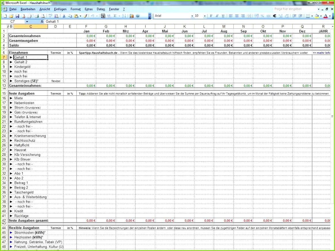 Excel Vorlage Haushaltsbuch Detaillierte Haushaltsbuch Führen Vorlage Inspiration 43 Herunterladbare Excel Vorlage Haushaltsbuch