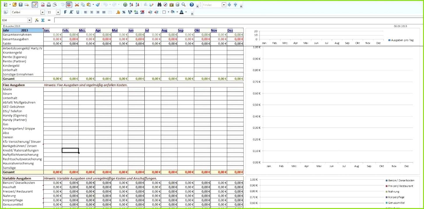 Excel Vorlage Haushaltsbuch Herunterladbare Haushaltsbuch Führen Vorlage Inspiration