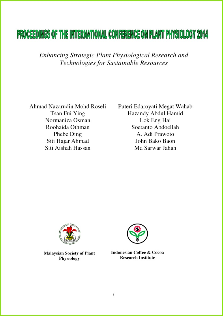 PDF PROCEEDINGS OF THE INTERNATIONAL CONFERENCE ON PLANT PHYSIOLOGY 2014