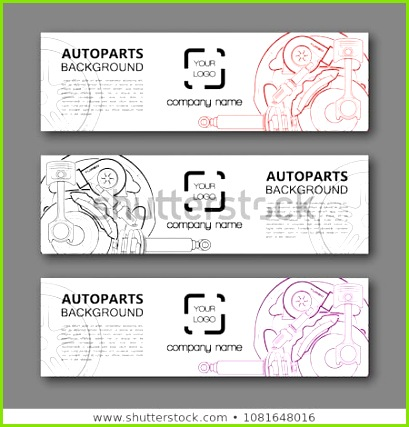 Modern template vector design Vector car service design auto parts template