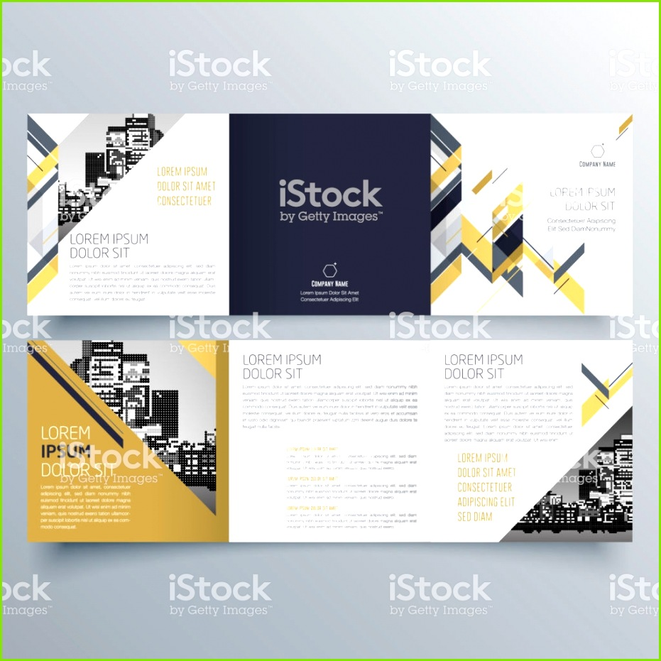 Brochure design brochure template creative tri fold trend brochure royalty free