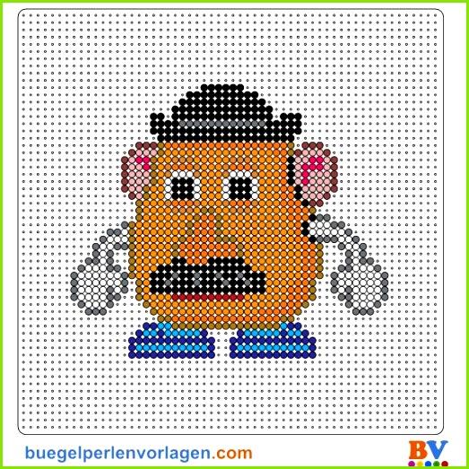 Mr Potato Toy Story Herr Kartoffelkopf Bügelperlen Vorlage perler bead pattern JoJo s Place for Plastic Canvas