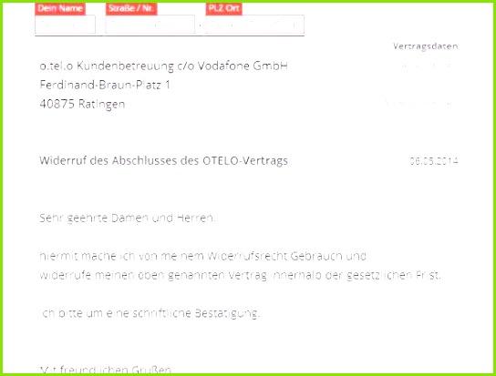 Kündigung Vodafone Muster Frisches Kündigung An Vodafone