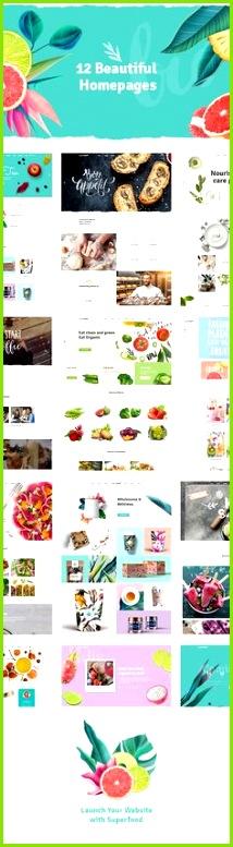 Webdesign Premium WordPress Themen Seiten Vorlage Bio Rezepte Gesundheitsprodukte