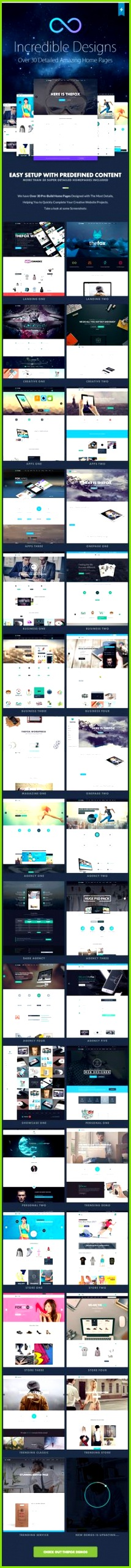 TheFox WordPress Theme Jahrbuch Design Website Templates Seiten Vorlage WordPress Template Webdesign