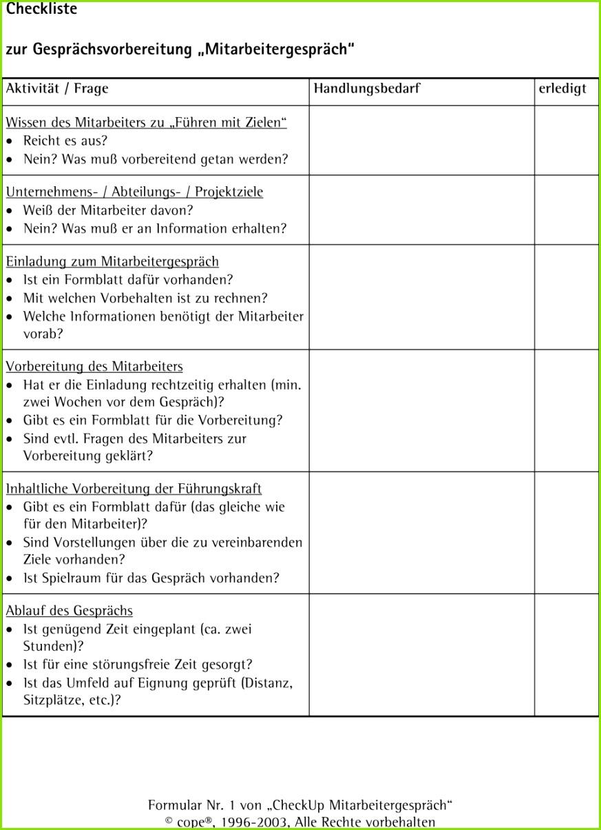 Jahresgespräch Vorlage Best Checkliste Zur Gesprächsvorbereitung in Einladung Mitarbeitergespräch