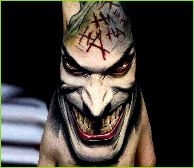 Joker tattoo by Andrey Stepanov