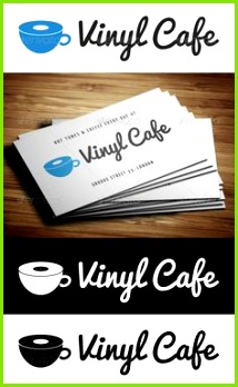 Vinyl Cafe Logo Template — shop PSD dj cafe logo template • Available here