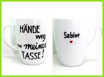 Tasse mit Spruch Tasse mit Name edle Namenstasse von Lovely Cups via dawanda