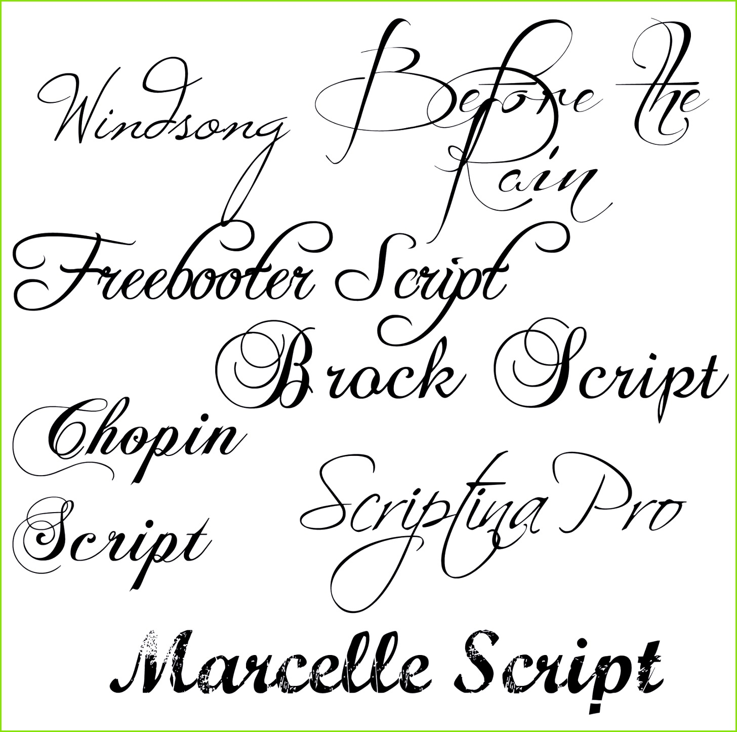 Links to free s of fancy fonts via MD School Mrs