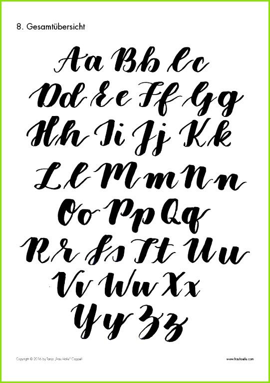Kalligraphie Alphabet Vorlagen Kostenlos Inspiration Letter Brush Lettering Guide Lettering Pinterest