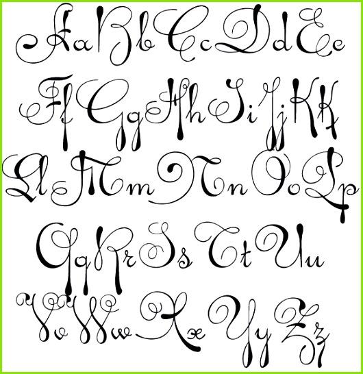 Handlettering Vorlagen Alphabet Herunterladen Die Fabelhaften Kalligraphie Alphabet Vorlagen