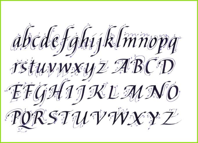 Kalligraphie lernen Anleitung zum Nachmachen