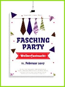 Plakat und Flyervorlagen für Karneval und Fasching
