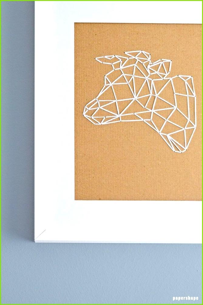 Coole Geschenkidee Wandbild Stier sticken auf Karton oder anderen Hintergrund ganz einfach mit Vorlage von papershpe geschenkideen geschenke