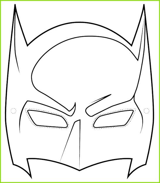 farsang álarc paprálarc sablon álarcsablon álarckésztés Superhelden Masken Batman Kostüm Masken Vorlagen Stoffreste