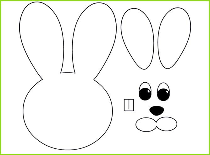 osterhase basteln vorlage ausdrucken zusammenkleben spring Easter