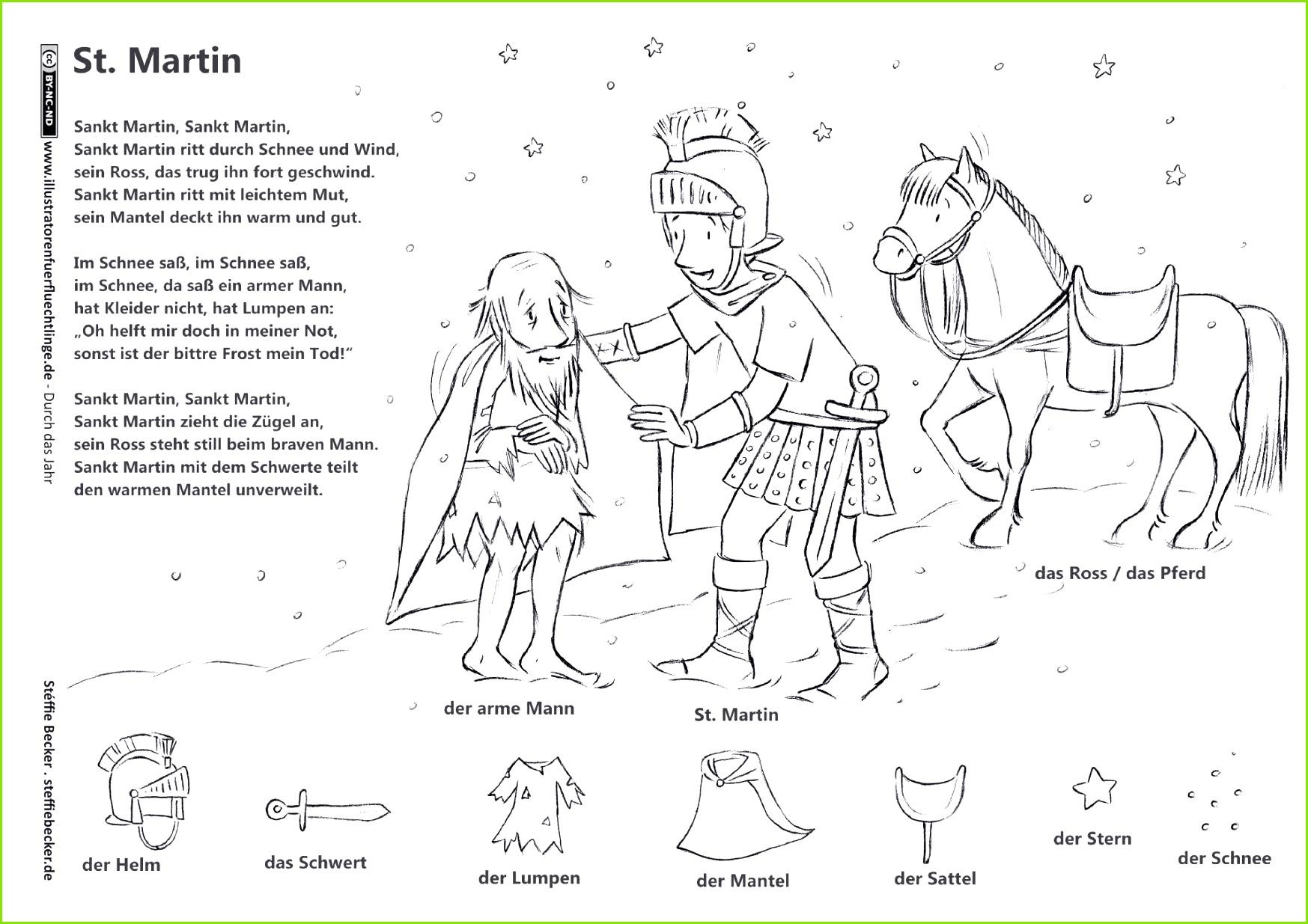 Download als PDF Durch das Jahr – Sankt Martin Legende Lied – Becker