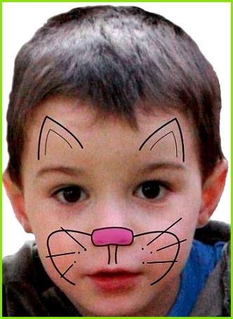 Kinder schminken Katze