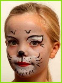 Kinderschminken Katze fertig