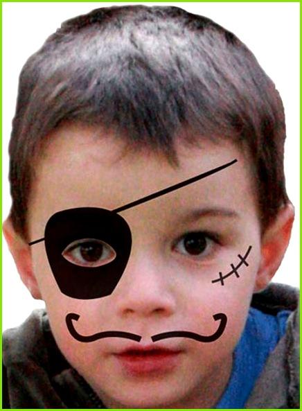 Kinder schminken Pirat