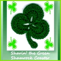 blog Free pattern for a shamrock coaster for St