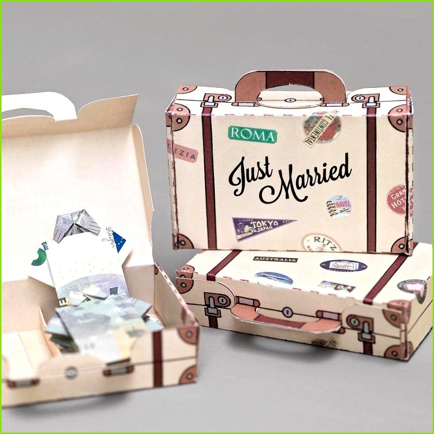 Geldgeschenk Hochzeit Vorlage Reisekoffer NEU