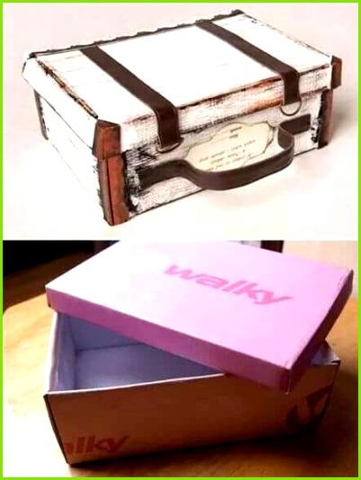 Aus einem Schuhkarton einen Koffer machen