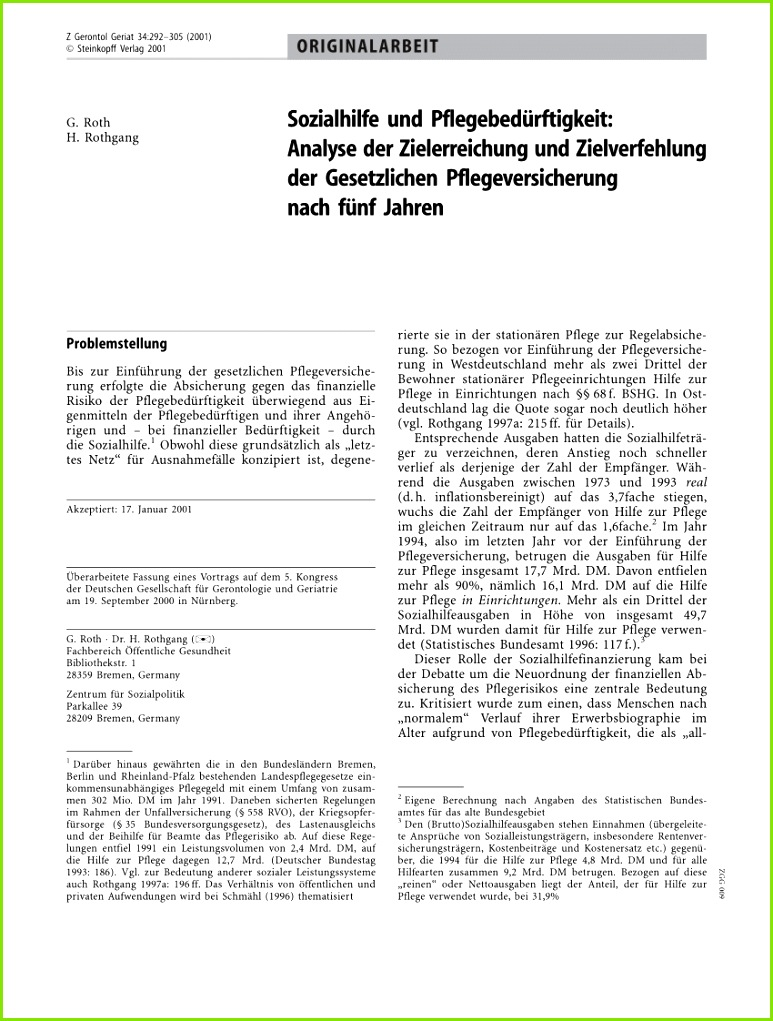 Public Sector Reforms and Local Governments in Germany The Case of Local Social Policy