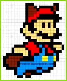 Minecraft Pixel Art Templates Mario Minecraft Templates Minecraft Pixel Kunst Pixel Art Sjablonen