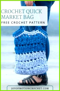 Crochet Quick Market Bag a free crochet pattern