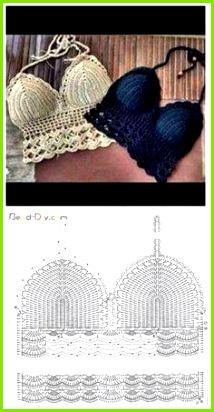 Μοτίβα για να πΠέξεις το δικό σου crochet μαγιό Δείτε και εδώ 70