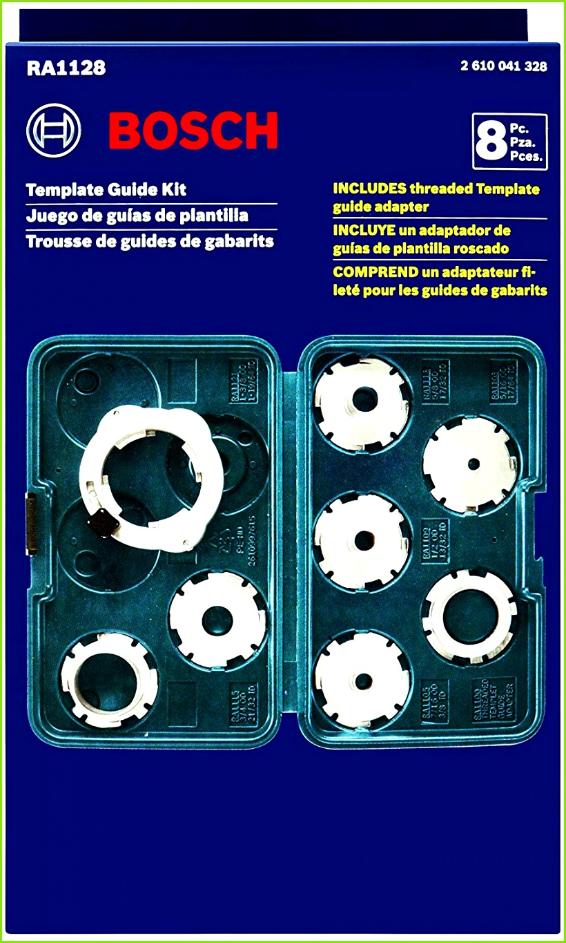 Bosch 8 Piece Router Template Guide Set RA1128 Amazon Tools & Home Improvement