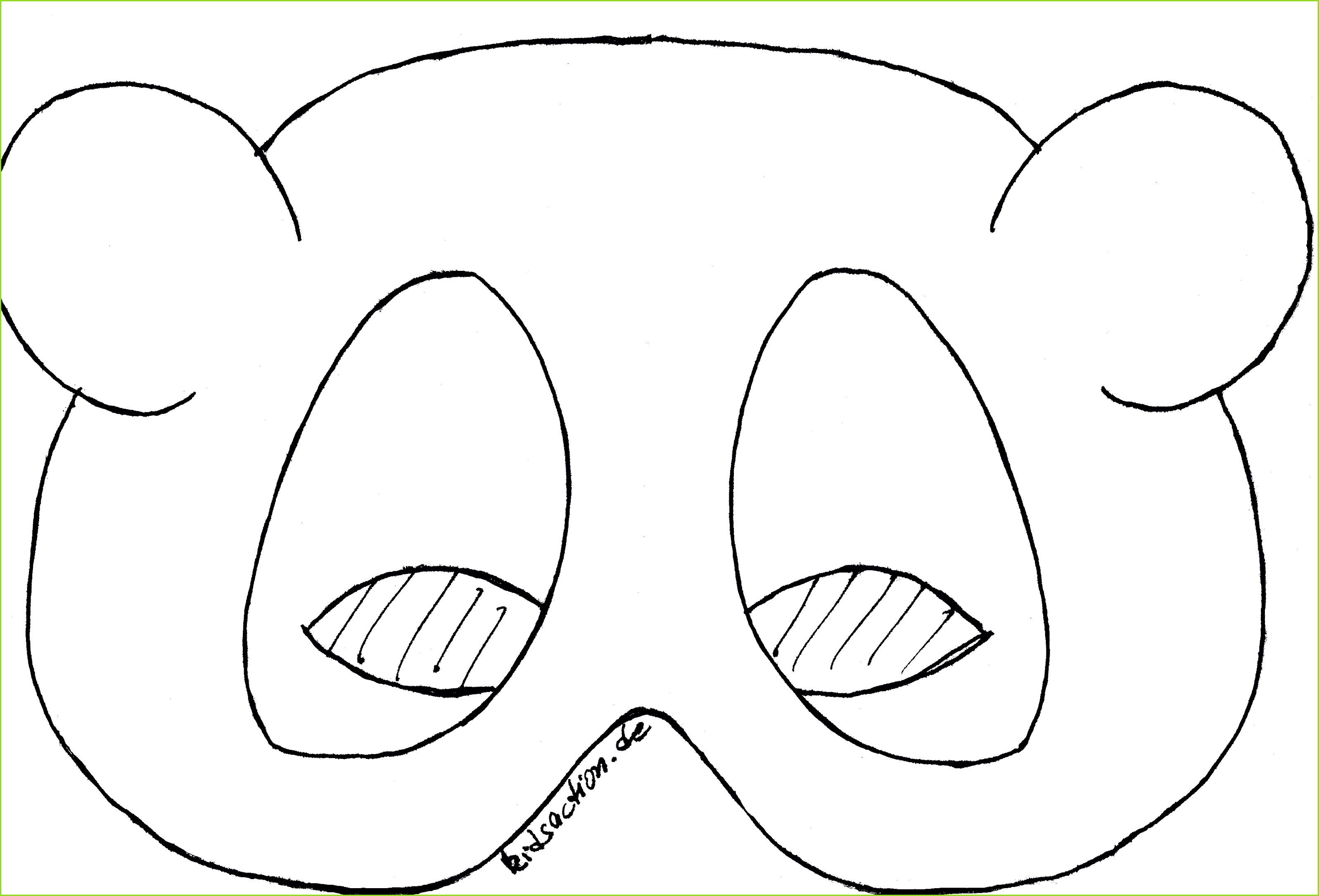 Bastelndsaction Basteln Masken innen Tiermasken Basteln