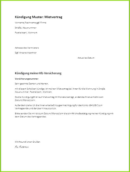 Mietvertrag Garage Kostenlos Downloaden Fristlose Kündigung Wohnung Muster Neu Kündigung Garage Vorlage Word
