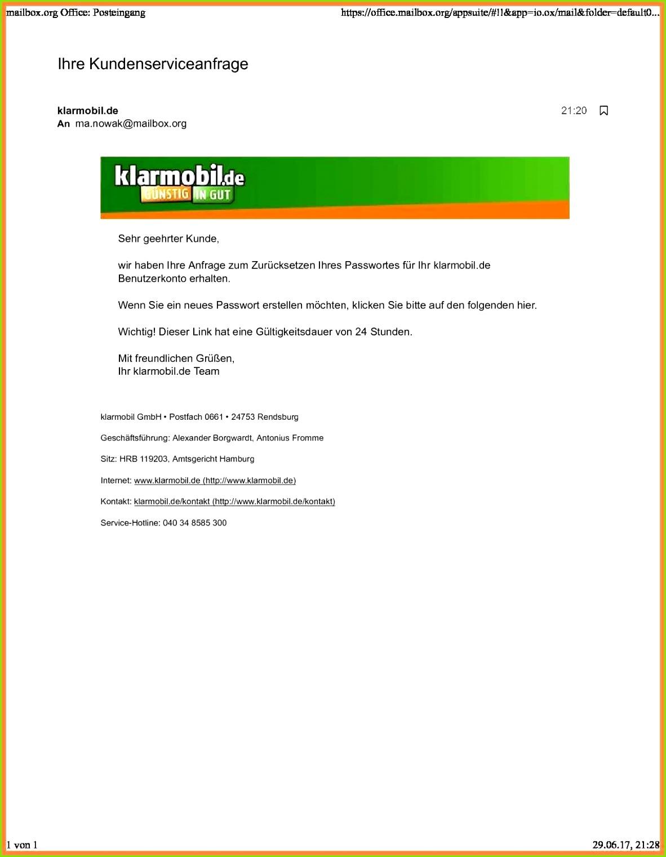 Kundigung Klarmobil Rufnummernmitnahme Vorlage klarmobil kündigen vorlage einzigartig 6 klarmobil gmbh vorlage ideen