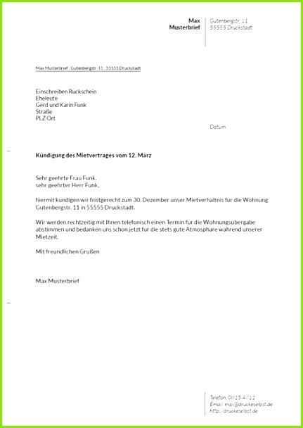 Kündigung Mietvertrag Bei Trennung Vorlage Besten Der Entlassung Mietvertrag Muster