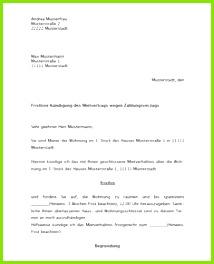 Kündigung Mietvertrag Vorlage Kostenlos Mieter