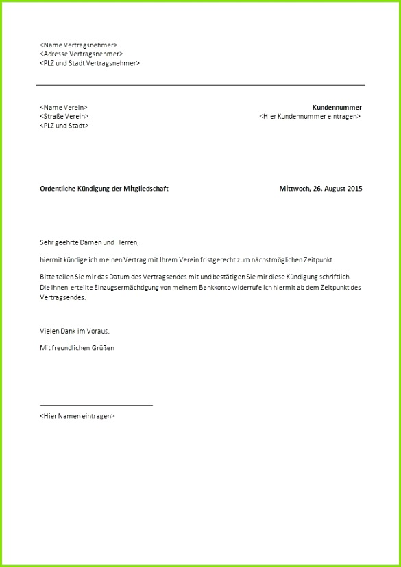 20 kündigung des mietvertrages
