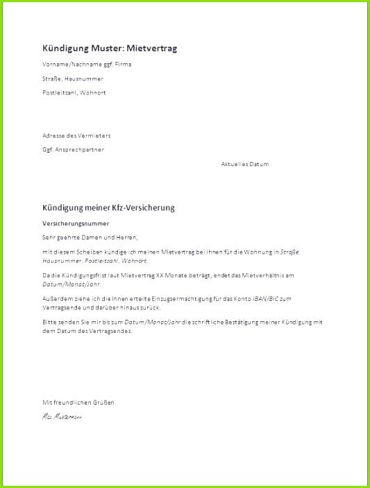 Kündigung Fitnessstudio Pdf Genial Frisches Kündigung Mietvertrag Pdf