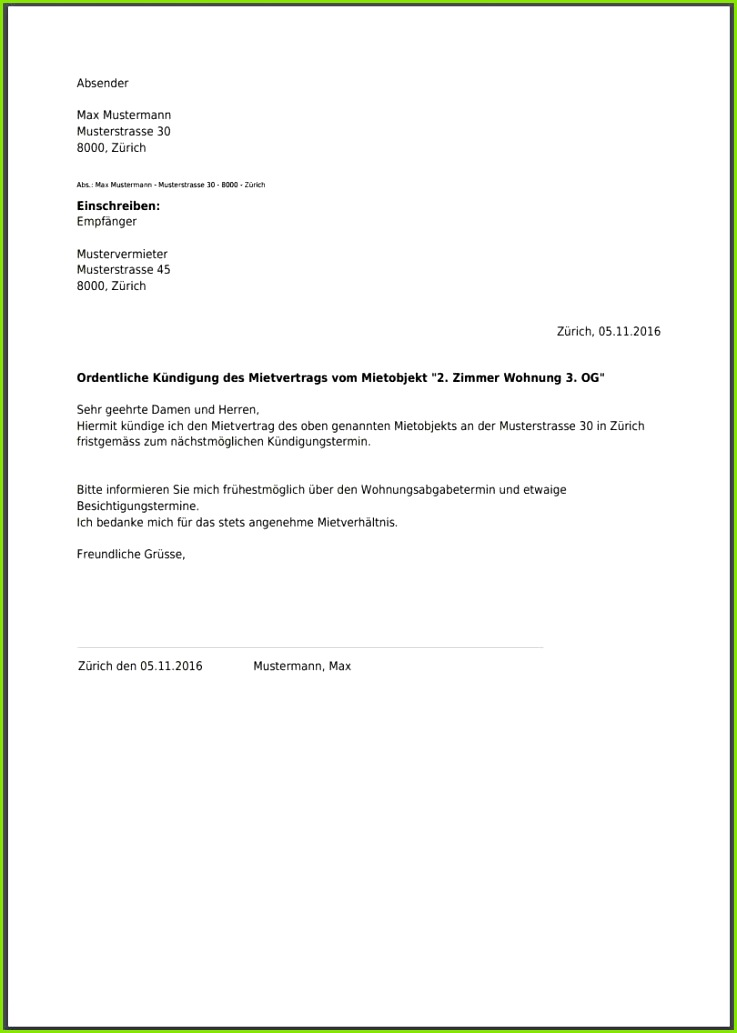 übergabeprotokoll Kundigung Wegen Eigenbedarf Muster kündigung mietvertrag wegen eigenbedarf vorlage kostenlos pdf