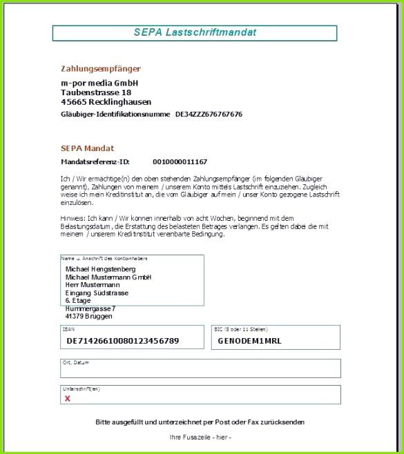 Kündigung Sepa Lastschriftmandat Vorlage Cool Kundenstamm – Faktura