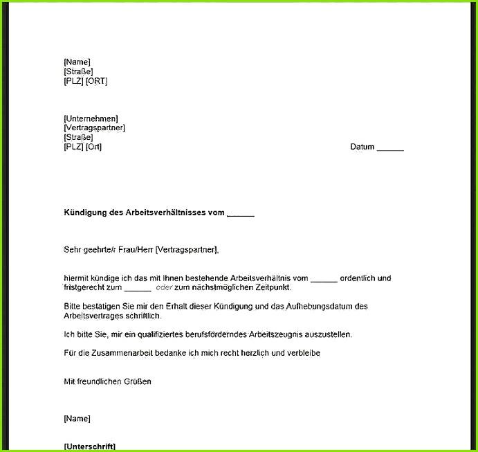 Kundigungsschreiben Arbeitnehmer Vorlage Kostenlos Word 17 Kündigung Mitarbeiter Vorlage Kostenlos