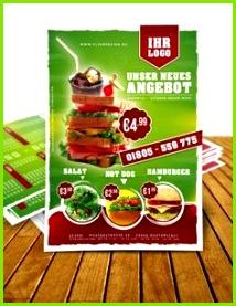 Imbiss Flyer Vorlage Sandwich Flyer Fast Food Flyer Menu Design inkl Druck F0008A Flyer Designvorlagen