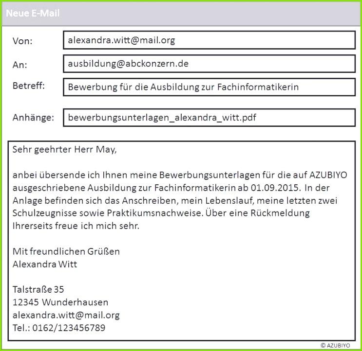 Bewerbung Per Email Schicken Frisches Genial Bewerbung Per Email Vorlage