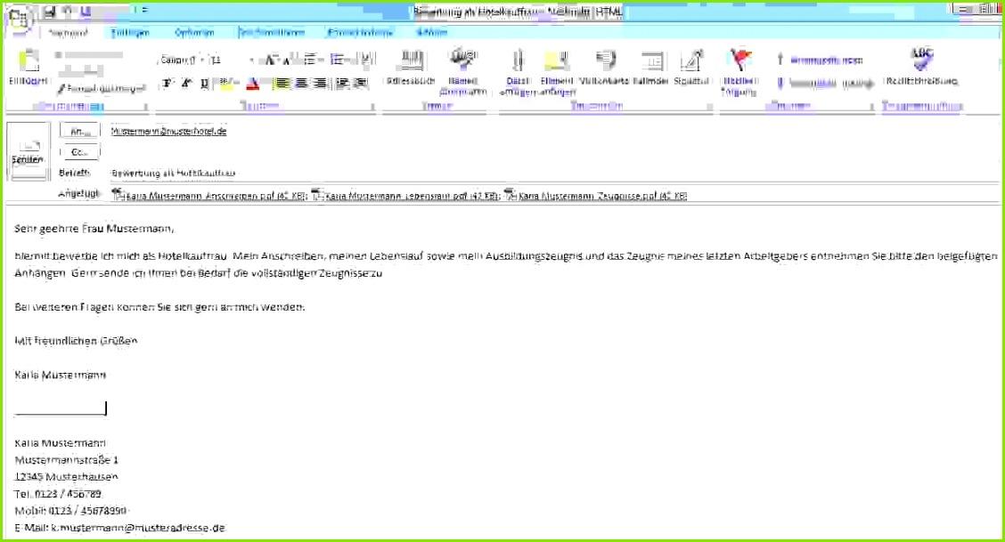 bewerbung per email verschicken